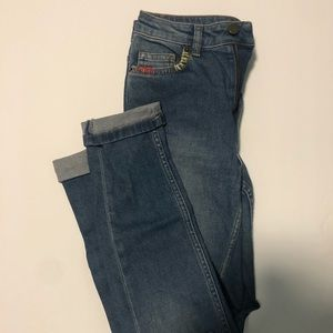 French Connection Distressed Skinny Jeans, 2